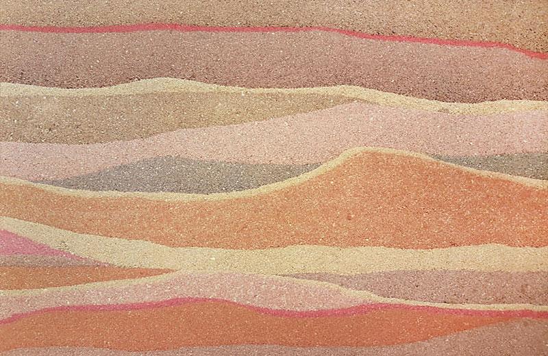 现代彩色肌理夯土墙HT-C7C02