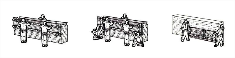夯土墙模板拆卸