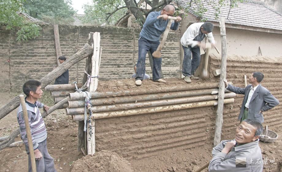 农村自建夯土墙