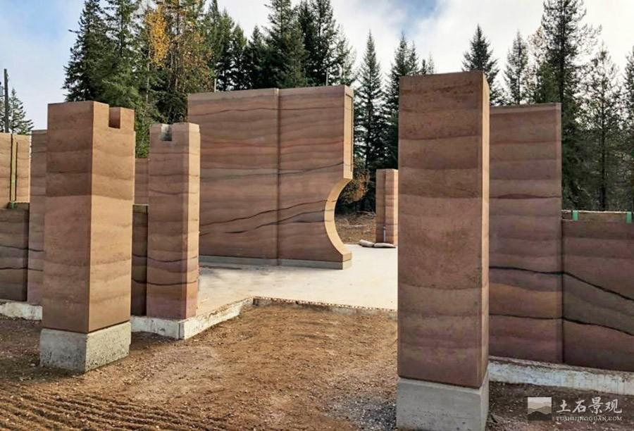 现代夯土墙制作方法