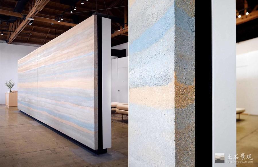 彩色夯土墙挂板