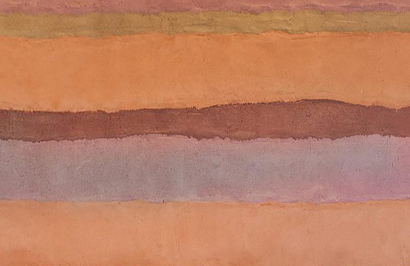 仿夯层彩色肌理夯土墙HTS-C5A10