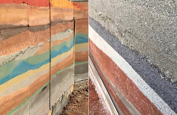 现代新型彩色夯土墙的做法介绍